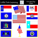 USA State Flags Clip Art: Flags of the US Clip Art