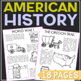 UNITED STATES AMERICAN HISTORY Coloring Pages | Social Studies Unit Study