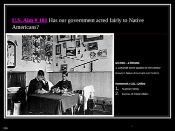 U.S. Aim # 101 Has our government acted fairly to Native Americans?