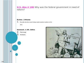 U.S. Aim # 106 Why was the federal government in need of reform?