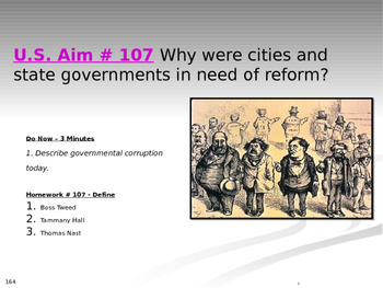 U.S. Aim # 107 Why were cities and state governments in ne