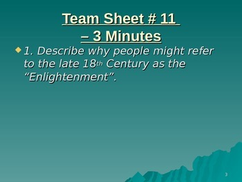 U.S. Aim # 11 How did the Enlightenment influence America's Constitution?