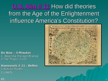 U.S. Aim # 11 How did the Enlightenment influence America'
