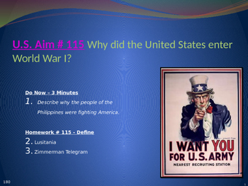 U.S. Aim # 115 Why did the United States enter World War I?