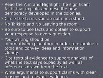 U.S. Aim # 12 How did democracy develop in the colonies?
