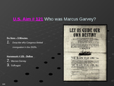 U.S. Aim # 121 Who was Marcus Garvey?