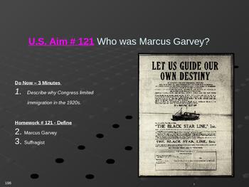 U.S. Aim # 121 Who was Marcus Garvey?