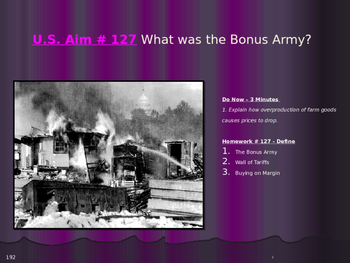 U.S. Aim # 127 What was the Bonus Army?