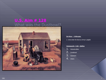 U.S. Aim # 128 What was the Dustbowl?