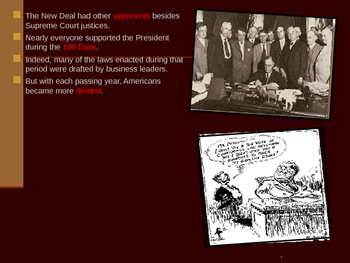 U.S. Aim # 133 What opposition was there to FDR's New Deal?