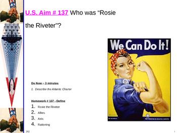 "U.S. Aim # 137 Who was ""Rosie the Riveter""?"