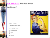 "U.S. Aim # 137 Who was ""Rosie the Riveter""?"