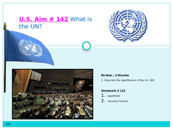 U.S. Aim # 142 What is the UN?