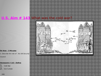 U.S. Aim # 143 What was the cold war?