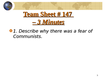 U.S. Aim # 147 What was McCarthyism?