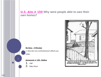 U.S. Aim # 150 Why were people able to own their own homes?