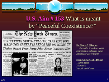 "U.S. Aim # 153 What is meant by ""Peaceful Coexistence?"""