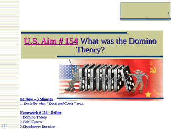 U.S. Aim # 154 What was the Domino Theory?