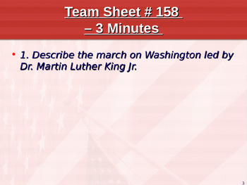 U.S. Aim # 158 Who was Dr. Martin Luther King Jr.?