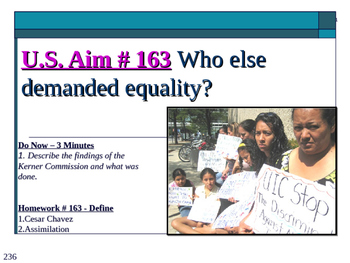U.S. Aim # 163 Who else demanded equality?