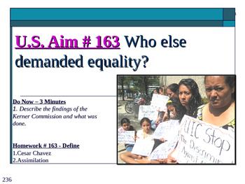 U.S. Aim # 163 Who else demanded equality?