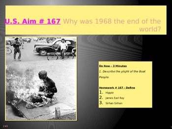 U.S. Aim # 167 Why was 1968 the end of the world?
