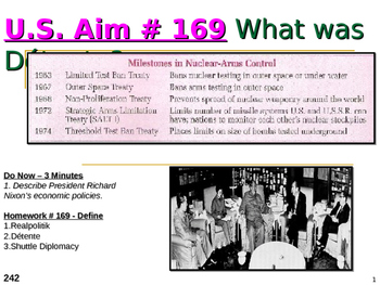 U.S. Aim # 169 What was Détente?