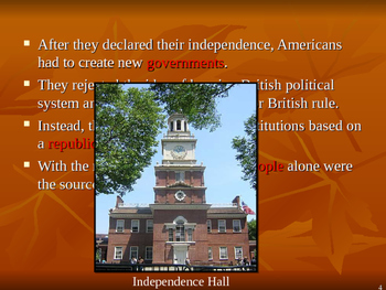 U.S. Aim # 17 How did the founding fathers set up State Constitutions?
