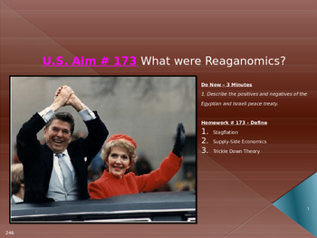 U.S. Aim # 173 What were Reaganomics?