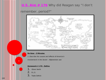 "U.S. Aim # 176 Why did Reagan say ""I don't remember, period?"""