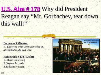 """U.S. Aim # 178 Why did Reagan say """"Mr. Gorbachev, tear dow"""