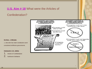 U.S. Aim # 18 What were the Articles of Confederation?