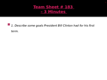 U.S. Aim # 183 How did Clinton turn our national debt into a budget surplus?