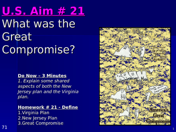 U.S. Aim # 21 What was the Great Compromise?