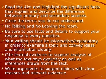 U.S. Aim # 3 How are Primary and Secondary Sources different?