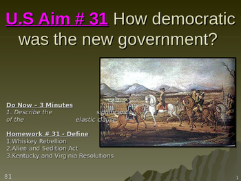 U.S Aim # 31 How democratic was the new government?