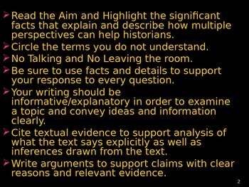 U.S. Aim # 4 How can Multiple Perspectives help historians?