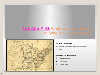 U.S Aim # 41 What are some factors unifying the United States?