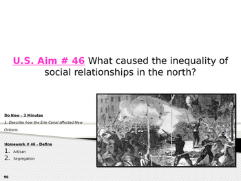 U.S. Aim # 46 What caused the inequality of social relationships in the north?