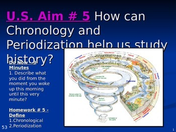 U.S. Aim # 5 How can Chronology and Periodization help us study history?