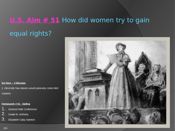 U.S. Aim # 51 How did women try to gain equal rights?
