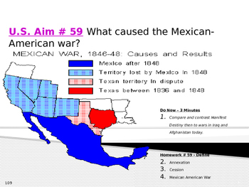 U.S. Aim # 59 What caused the Mexican-American war?