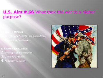U.S. Aim # 66 What took the war to a higher purpose?