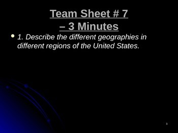 U.S. Aim # 7 What are the Regions of the World?