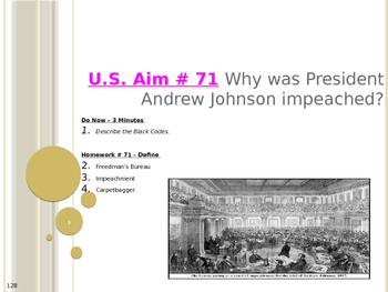 U.S. Aim # 71 Why was President Andrew Johnson impeached?