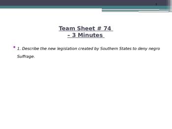 U.S. Aim # 74 What were Jim Crow Laws?