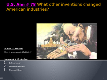 U.S. Aim # 78 What other inventions changed American industries?