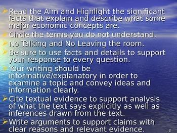 U.S. Aim # 8 What are some major economic concepts?