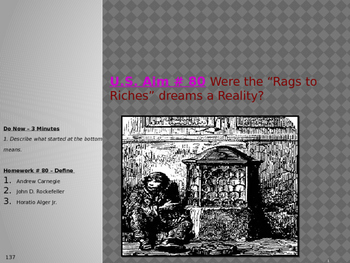 """U.S. Aim # 80 Were the """"Rags to Riches"""" dreams a Reality?"""