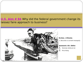 U.S. Aim # 84 Why did the government change to a laissez faire approach.